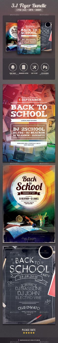 Back To School Party  School Parties School And Flyer Template