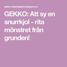 GEKKO: Att sy en snurrkjol - rita mönstret från grunden!