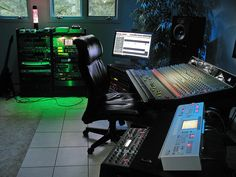 In this collection of studio shots we've got a real variety of setup types. From basic home studios to more complex pro music making environments...