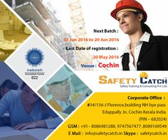 Get yourself enrolled in #NEBOSH #training Course in Safety Catch Training today: http://bit.ly/NEBOSH_TrainingProgram