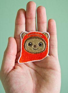 Ewok -- Embroidered Iron-on Ewok Patch from Starwars