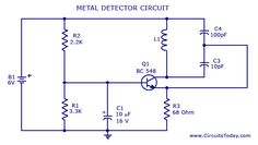 Metal Detector - circuit diagrams, schematics, electronic projects