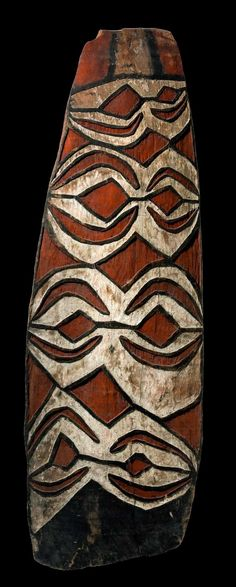 War shield from the Asmat of Papua New Guinea