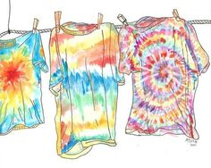 Tie Dye!  We made 100's of these ~ so much fun!  Kids that hadn't did this are missing something!