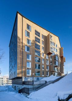 OOPEAA has won the 2015 Finlandia Prize for Architecture with Puukuokka – the tallest wooden apartment block in Finland and one of the first high-rise examples of prefabricated cross-laminated timber construction in the world.