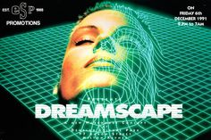 Dreamscape Anniversary Poster Flyer & Ticket Print Pack Old Skool Rave Creative Web Design, Design Web, Flyer Design, Graphic Design, Trance, Web Design Quotes, Design Posters, Type Posters, Acid House