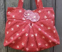 PLEATED TOTE by ByFreddismom on Etsy, $17.95