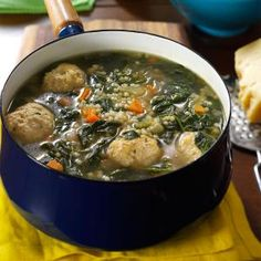 Christina's Italian Wedding Soup. Really Good! I used orzo because I didn't have the pasta.