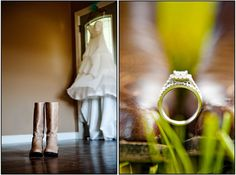 PARIS MOUNTAIN PHOTOGRAPHY wedding rings. Rings with cowgirl boots