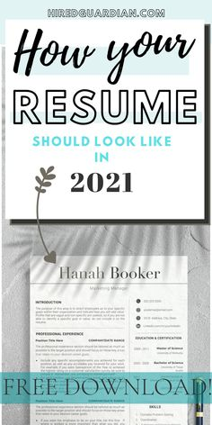 Free Professional Resume Template to give you inspiration for how to make your own professional design resume template. #professionalresume #minimalistresume #resumetemplate #modernresume