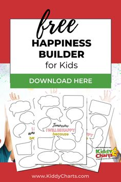 Are you wondering how you can raise happy kids? Do you want a way to encourage your kids to focus on the good that happens every day and what traits make them amazing? If so, then you'll enjoy our happiness builder for kids printable. Pin this for later! #freeprintables #printable #freebies #kidsprintables #kidsactivities #activitiesforkids #kidshappinessbuilder #kids #parentingtips #freedownload Happy Kids, Freebies, To Focus, Parenting Hacks, Activities For Kids, Free Printables, Shit Happens, Happy Children, Free Printable
