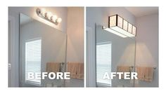 Looks great and hides those ugly dated light. Lots of great staging tips