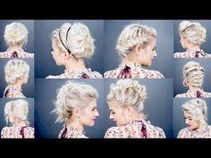 3 HEATLESS Up-Dos For Short Hair Tutorial | Milabu - YouTube