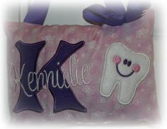 Girls Tooth Fairy Pillow  Butterflies by SandDStitches on Etsy, $22.50