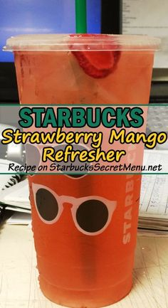 Try Starbucks Strawberry Mango Refresher Fun fruity and oh so refreshing StarbucksSecretMenu Starbucks Hacks, Starbucks Secret Menu Drinks, Starbucks Refreshers, Starbucks Coffee, Starbucks Food, Healthy Starbucks, Starbucks Frappuccino, Irish Coffee, Strawberry Mango Recipe