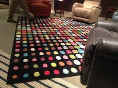 Polkadot rug by Flexsteel Furniture. // www.KeyHomeFurnishings.com