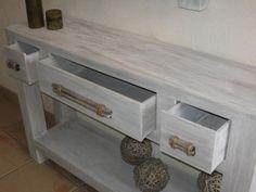 table console en carton terminée - meubles en carton marie krtonne