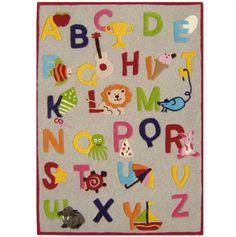 Alphabet Rug, 5ft x 8ft