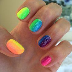 #rainbow #manicure  #rainbowmanicure #nailsdone #nailsdid #nail #nails #nailartclub #nailart #nailpolish #nailpolishes #notd