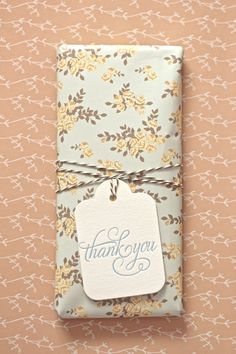 Wrapped in Love Mae paper, The Twinery twine & Bespoke letterpress tag) - photo: Polkadot Prints