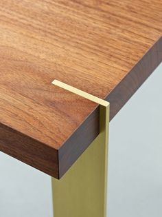 Alice Tacheny Design, Platte Occasional Table (walnut top with solid brass legs)