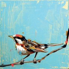 A lovely painting of a little bird by artist Frank Gonzales. His work is really remarkable. see more..  http://frankgonzales.net