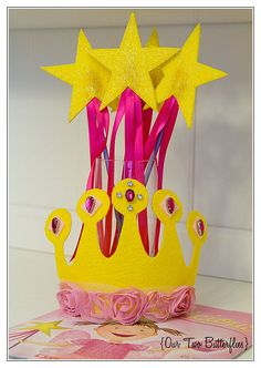 DIY Pinkalicious wand and crown