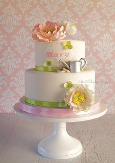 Garden Peonies Cake