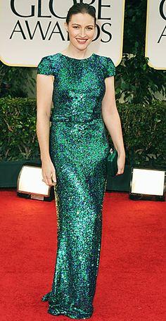 Kelly McDonald at the Golden Globes