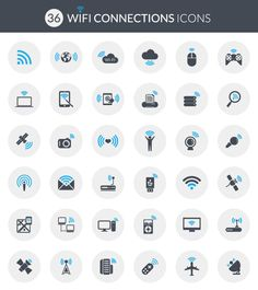 wifi iconset freebie flat design vecteezy