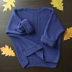 blue sweater with nice stitch details