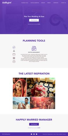 "Check out my @Behance project: ""Wedding Tool Website"" https://www.behance.net/gallery/45421179/Wedding-Tool-Website"