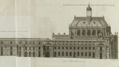 Section of the central building of Versailles (with the Hall of Mirrors and bedchamber of Louis XIV (Plate 490). - Lower gallery and vestibu...