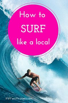 Envious of all the local surfers that are riding those huge waves? If you're a beginner heres what you need to know to learn how to surf like a local Surfing Tips, Surfing Quotes, Hawaii Surf, California Surf, Learn To Surf, Polynesian Culture, South America Travel, Like A Local, Lessons Learned