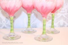 painted wine glasses bottom detail