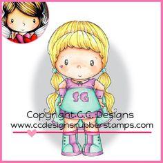 C.C. Designs Rubber Stamp - Swiss Pixie Super Hero Birgitta