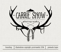 Wild nature photography logo - antlers, mountains, feathers - Eps and Png file…