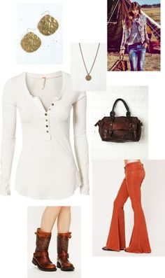"""""""Free people-Orange"""" by emalbe on Polyvore"""