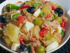 Ana Sevilla Salad jacket with Thermomix Salad Recipes, Diet Recipes, Cooking Recipes, Healthy Recipes, Good Food, Yummy Food, Mets, Savoury Dishes, Tapas
