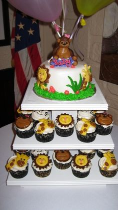 jungle themed baby shower cake on CakeCentral.com