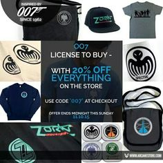 Arcanestore.com #007 #jamesbond over 1600 products to choose from