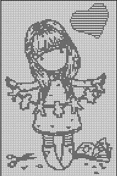 point de croix gorjuss gratuit Crochet C2c Pattern, Crochet Cross, Crochet Chart, Cross Stitching, Cross Stitch Embroidery, Cross Stitch Patterns, Cross Stitch Boards, Cross Stitch Baby, Seed Bead Patterns