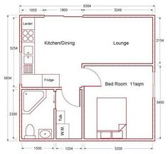 Small house plan for outside guest house Make that a Murphy bed