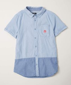 3852c0c7b Light-Wash Opposites Button-Up - Toddler & Boys #ad Kids Clothes