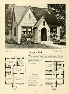 Title from cover Small Tiny House, Small House Plans, Small Houses, Sims House Plans, House Floor Plans, Vintage House Plans, Vintage Homes, Craftsman House Plans, Craftsman Style