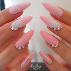 50 Beautiful Nail Art Designs & Ideas Nails have for long been a vital measurement of beauty and Perfect Nails, Gorgeous Nails, Love Nails, Pink Nails, Pretty Nails, Amazing Nails, Perfect Pink, Matte Nails, Pink Nail Designs