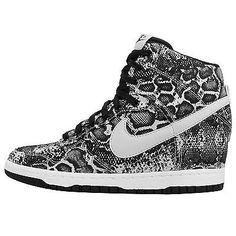 0784278eb0ed Wmns Nike Dunk Sky Hi   Print NSW Womens Wedge Sneakers Hidden Heel Shoes  Pick 1