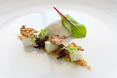 Blue cheese mousse and caramelized walnut