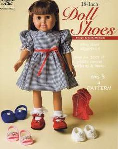 Plastic Canvas Patterns - Doll Shoes Pattern ~ great for American Girl dolls and similar dolls American Girl Doll Shoes, American Girl Clothes, Girl Doll Clothes, Girl Dolls, American Girls, Ag Dolls, Barbie Clothes, Barbie Doll, Plastic Canvas Books
