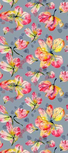 5m Artist Watercolour Digital Printed Colour Designer Cotton Upholstery Fabric